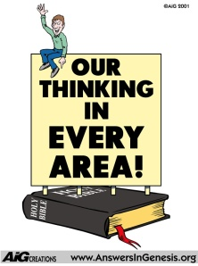 Our Thinking In Every Area (little man on Bible pic)